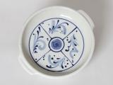 Muster weiß-blau auf Tarteform