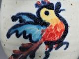 Vogel weiß-bunt