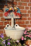 Wandbrunnen Vögel