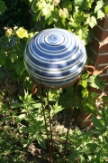 Kugel blau-weiß