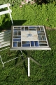 Tisch Fliesen blau 50x50