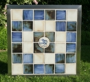 Tisch Fliesen blau 70x70 cm