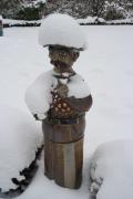 Leuchte Mann Schnee