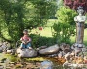 Skulptur Angler Teich