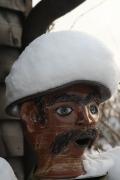 Skulptur Kopf Schnee
