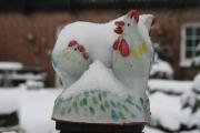 Hühner Schnee