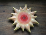 Keramik-Wanddekoration 'Gelbe Sonne'