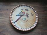 Keramikschild rund groß 'Vogel'