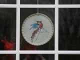 Keramikschild rund klein 'Vogel'