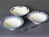 Dessertschale weiß-blau