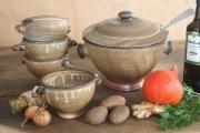 Suppenterrine Suppenschalen braun