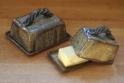 Buttertöpfe braun-salzglasiert