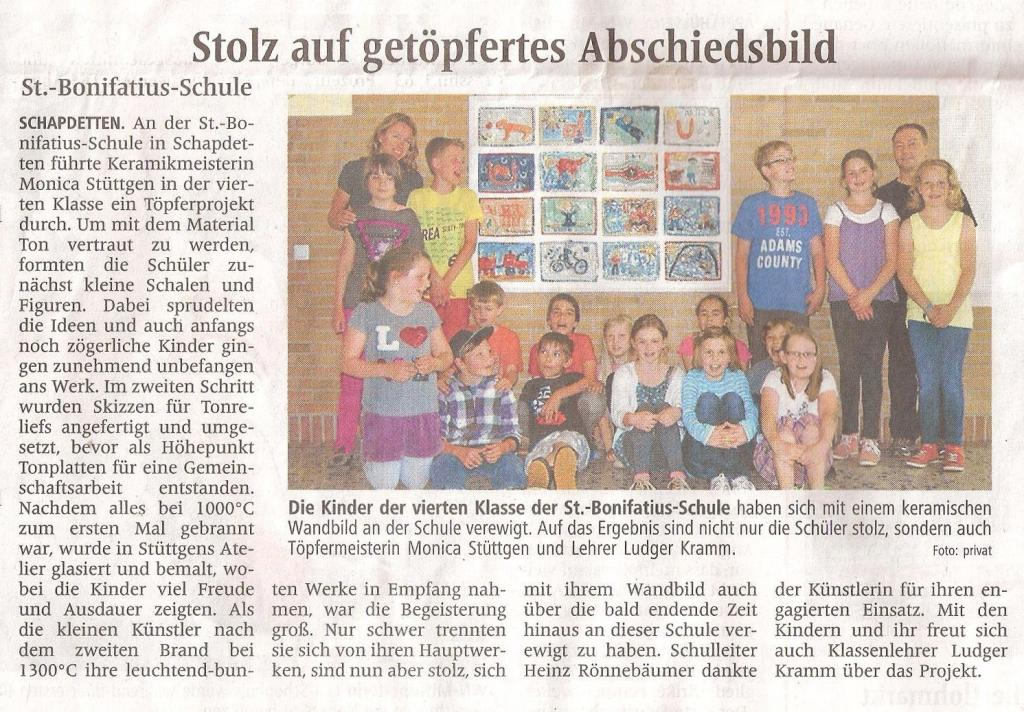 St. Bonifatius Schule Abschiedsbild WN 2013-06-14