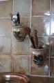 Keramik-Wand-Bestecktöpfe braun-shino