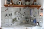 Küche weiß-blaj