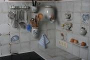Küchenfliesen weiß-blau