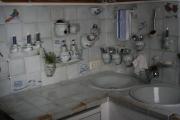 Küche weiß-blau